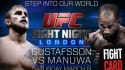 UFC FIGHT NIGHT LONDON WEIGH-IN GUSTAFSSON VS. MANUWA