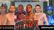 Detroit's Best Prospects Will Appear on Salita Promotions' 'Detroit Brawl' on Saturday, November 12,