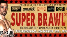 BOXING WEIGHTS FROM SUPER BRAWL III AT SKYLANDS ECC IN RANDOLPH, NEW JERSEY