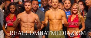 CANELO ALVAREZ VS. GENNADY GOLOVKIN WEIGH-IN VIDEO