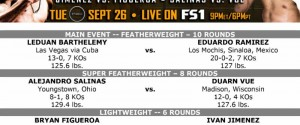 Leduan Barthelemy vs. Eduardo Ramirez PBC on FS1 & FOX Deportes Official Weights & Weigh-In Photos