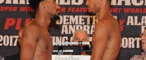 Demetrius Andrade battles Alantez Fox on HBO Boxing After Dark® Saturday, October 21 – Weights & Photos