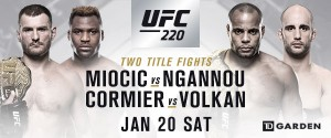 UFC 220 MAIN CARD IS SET