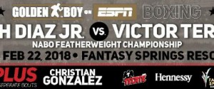 JOSEPH 'JOJO' DIAZ, JR. TO DEFEND NABO FEATHERWEIGHT TITLE AGAINST FORMER WORLD CHAMPION VICTOR 'VIKINGO' TERRAZAS
