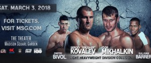 Sergey Kovalev vs. Igor Mikhalkin and  Dmitry Bivol vs. Sullivan Barrera  International Media Conference Call Transcript
