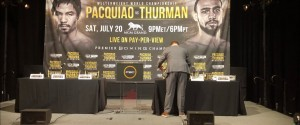 "PACQUIAO VS. THURMAN NYC PRESS CONFERENCE – THURMAN – ""THIS WILL BE PACQUIAO'S LAST FIGHT"""