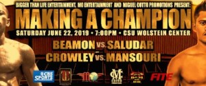 "Dewayne ""Mr. Stop Running"" Beamon Will Face Filipino Froilan ""The Sniper"" Saludar in Cleveland"