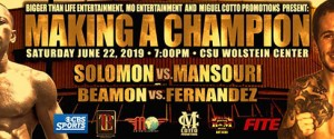"Brad ""King"" Solomon Will Step in To Face UK's Navid ""Nav"" Mansouri in Cleveland"