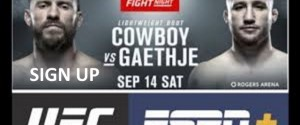 UFC FIGHT NIGHT CERRONE VS. GAETHJE ESPN +16 WEIGH-IN VIDEO