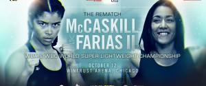 JESSICA MCCASKILL DEFENDS WORLD TITLES IN THE ERICA FARIAS REMATCH