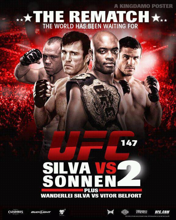 SONNEN VS. SILVA SET FOR UFC 147 IN BRAZIL