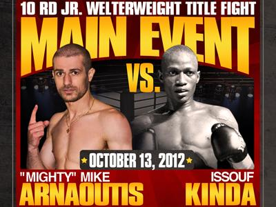 "RealCombatMediaGreece: Boxing Pride of Greece Mighty Mike Arnaoutis on ""WESTBURY WARS"" Oct13th"