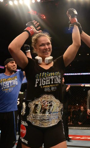 Ronda Rousey def. Liz Carmouche via 1st round submission & UFC 157 Results- Post Press Conference