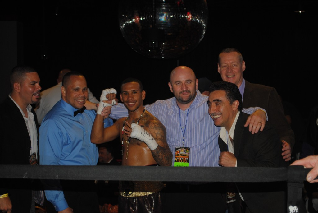 Baby Tito Wins By Knockout Early, Mares and Floyd On Casino Big Screen