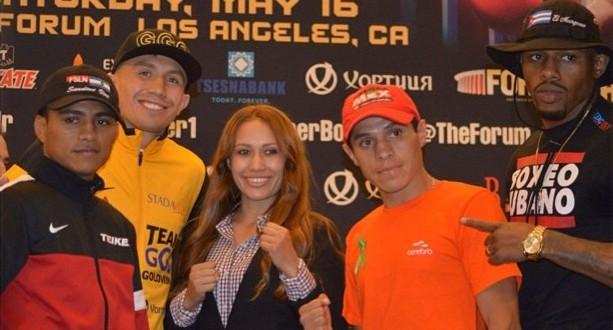 Seniesa Estrada - at GGGMonroe presser_Credit Jeandra               Lebeauf of BadCulture.net