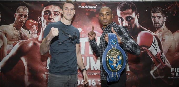 CALLUM SMITH VS HADILLAH MOHOUMADI PRESS CONFERENCE PICTURES BY PAUL CURRIE/MATCHROOM BOXING