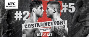 TOP FIVE MIDDLEWEIGHT CONTENDERS (#2) PAULO COSTA AND (#5) MARVIN VETTORI COLLIDE AT UFC®APEX IN LAS VEGAS