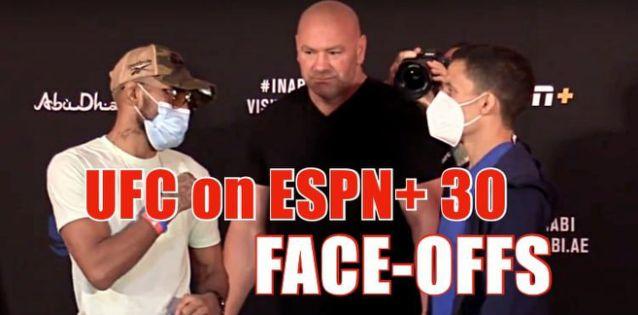 UFC ESPN Plus 30 Weigh-in