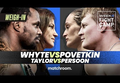 Whyte vs. Povetkin & Taylor vs Persoon Weigh-in video