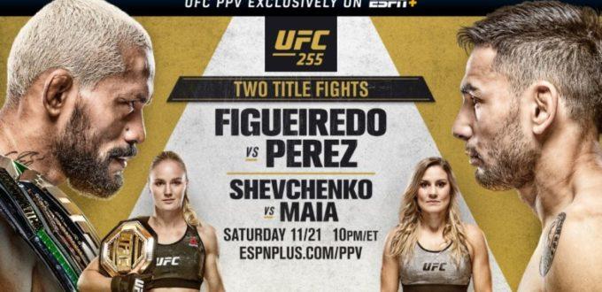 UFC 255 ESPN Plus