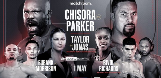 chisora vs parker weigh-in