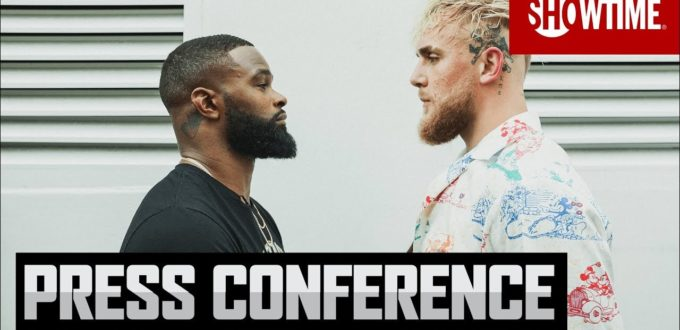 Paul vs Woodley Press+Conference+SHOWTIME+PPV