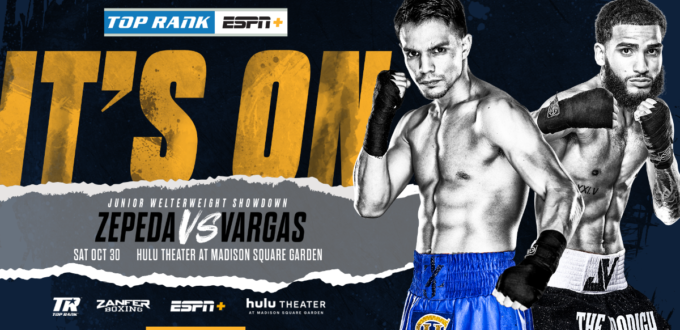 Jose Zepeda-Josue Vargas Junior Welterweight Showdown Headlines Halloween Weekend
