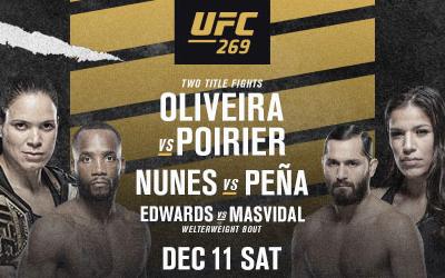 UFC 269 CARD IS SET